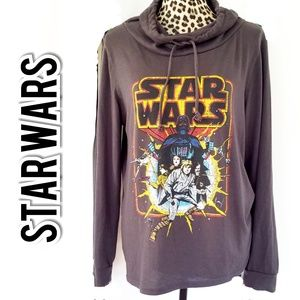 Star Wars Charcoal Gray Cowl Neck Pullover